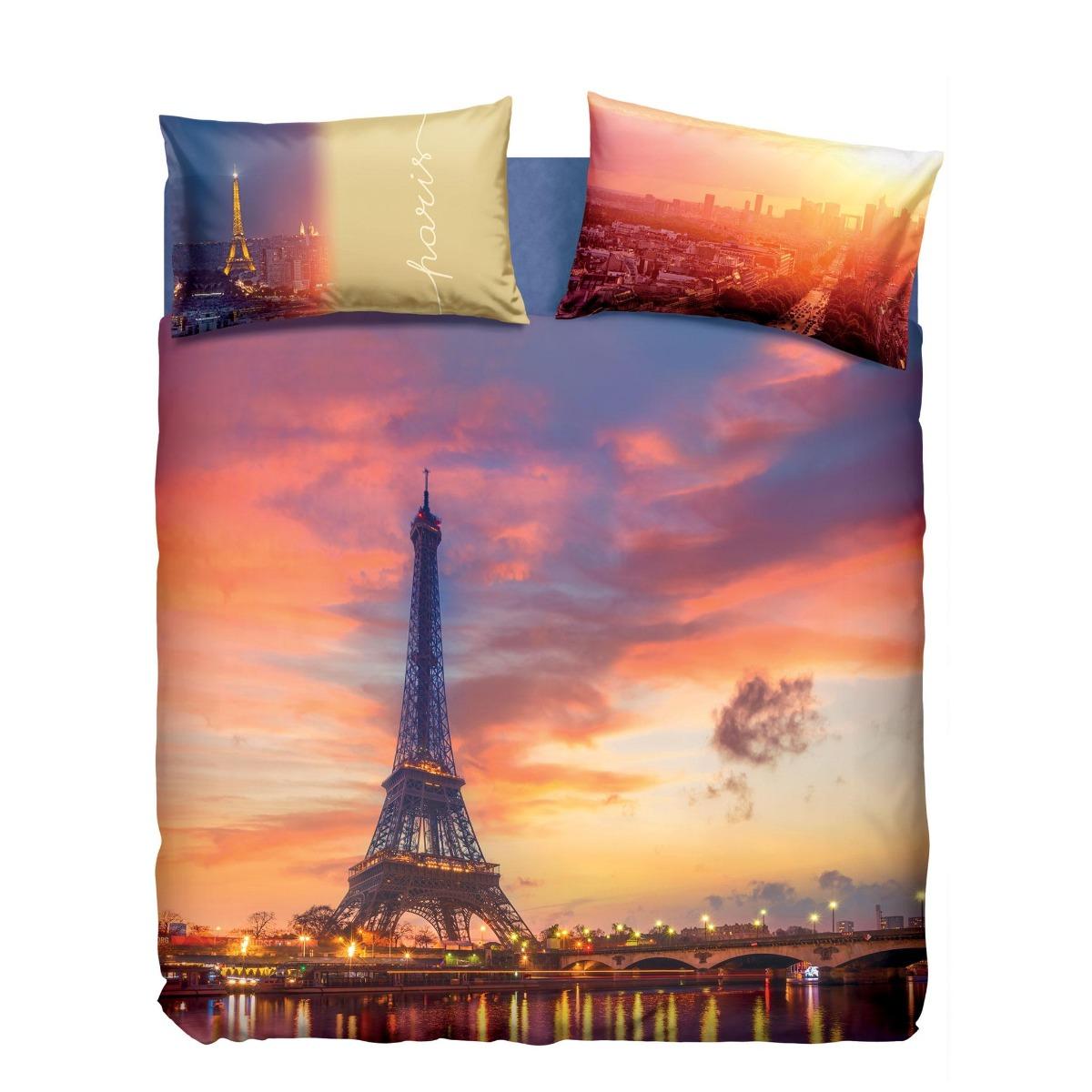 Lenzuola Matrimoniali Parigi.Completo Lenzuola Copriletto Matrimoniale Bassetti Paris Parigi