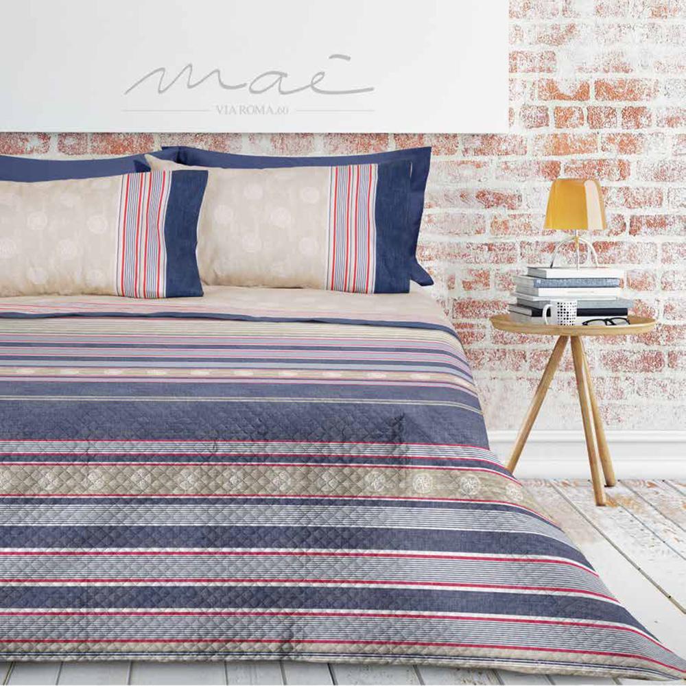 Trapuntino Matrimoniale Primaverile Copriletto Blu Moderno 2p Mae By Via Roma 60 Ebay