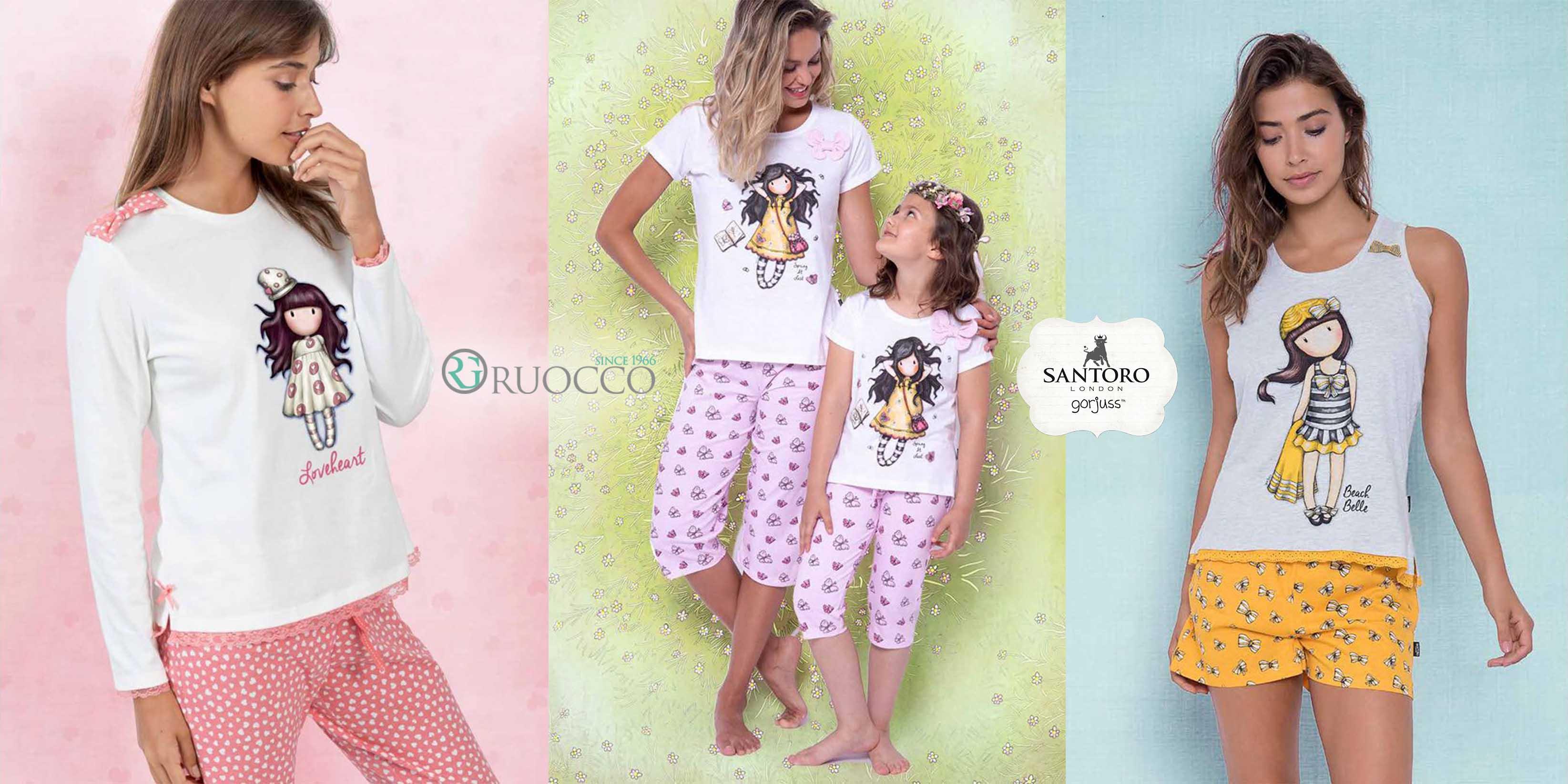 Pigiami Gorjuss Santoro per donna e bambina: avere l'iconica bambola sempre con te